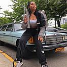 Женская короткая светоотражающая куртка на молнии с воротником - стойкой 65kr165, фото 2