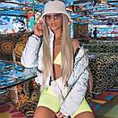 Женская короткая светоотражающая куртка на молнии с воротником - стойкой 65kr165, фото 5