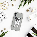 Pump Tender Touch Case чехол для iPhone X/XS Mops On Gray, фото 3