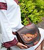"""Кожаная сумка ручной работы через плечо, эксклюзивная сумочка в стиле """"бохо"""""""