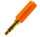 01-00-055. Штекер 3,5 стерео, корпус металл, gold pin, Sennheiser, цветной, фото 2