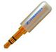 01-00-055. Штекер 3,5 стерео, корпус металл, gold pin, Sennheiser, цветной, фото 3