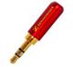 01-00-055. Штекер 3,5 стерео, корпус металл, gold pin, Sennheiser, цветной, фото 6