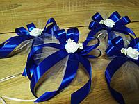 Украшение свадебных машин Rose. Цвет синий (цена за 1 шт)