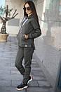 Женский спортивный костюм из трхнитки с кофтой на молнии 52so801, фото 2