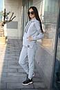 Женский спортивный костюм из трхнитки с кофтой на молнии 52so801, фото 3