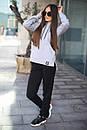 Женский спортивный костюм из трхнитки с кофтой на молнии 52so801, фото 4