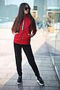 Спортивный женский костюм на флисе с мастеркой на молнии 52so802, фото 2