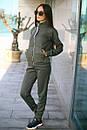 Спортивный женский костюм на флисе с мастеркой на молнии 52so802, фото 9