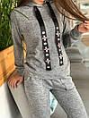 Женский повседневный костюм с худи и капюшоном 52ks296, фото 2