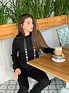 Женский повседневный костюм с худи и капюшоном 52ks296, фото 4