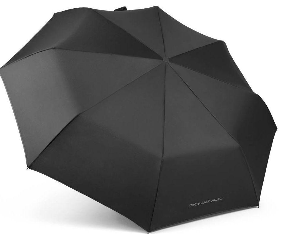 Зонт складной автомат  Piquadro Ombrelli, черный