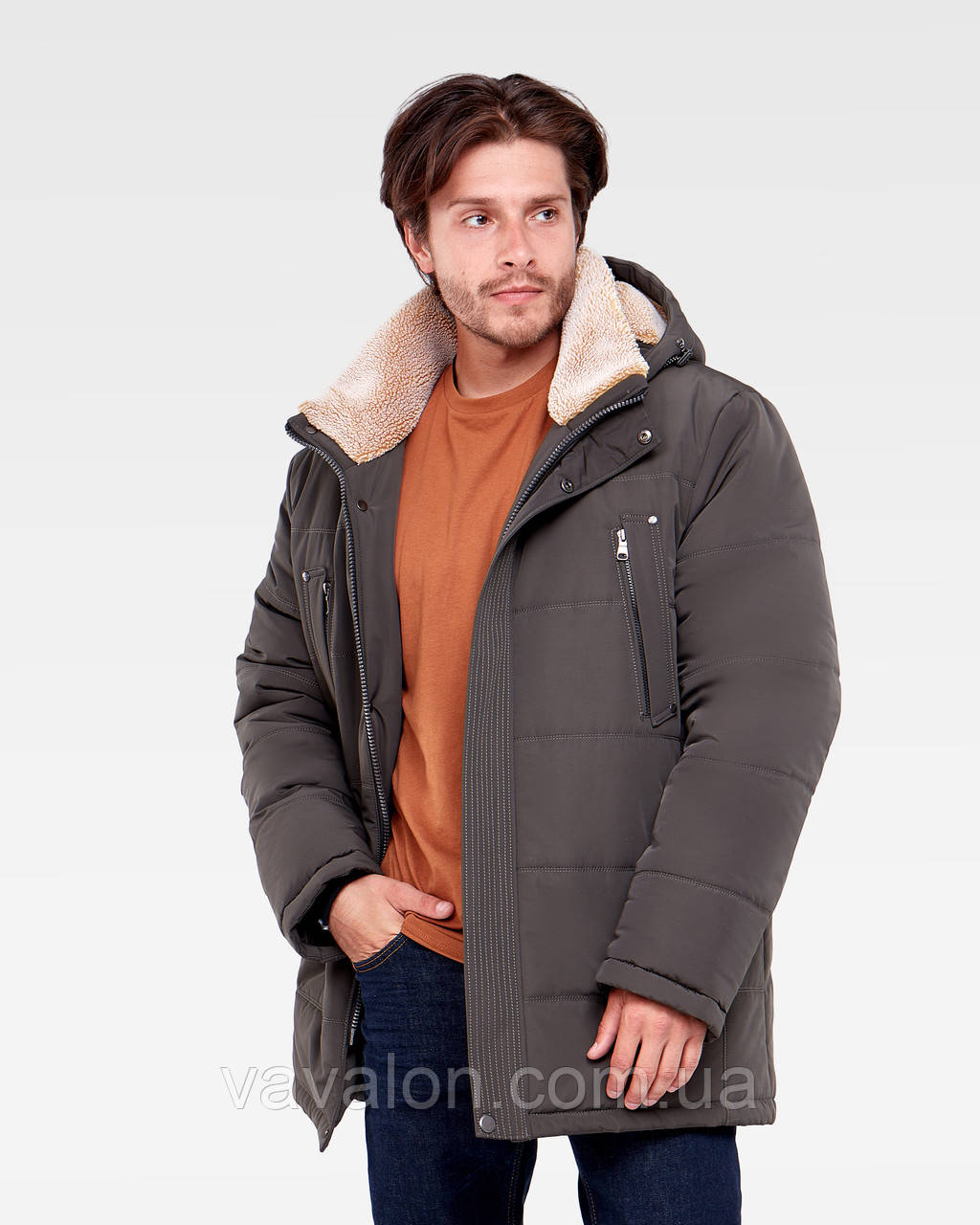 Зимняя мужская куртка Vavalon KZ-938 khaki