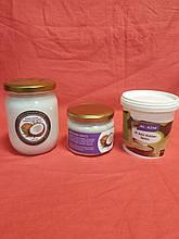 Смачне тріо - Кокосове масло холодного віджиму Індонезія 0,5 л.+Кокосова паста 0,33+кунжутна паста 0,45