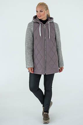 Демисезонная Куртка женская   Geneva (50-60) светло-коричневый, фото 2
