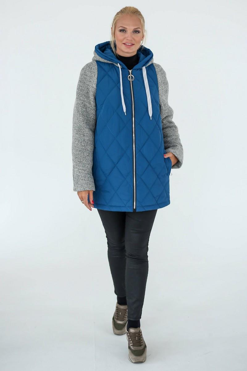 Демісезонна Куртка жіноча Geneva (50-60) світло-синій