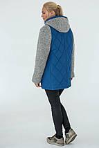 Демісезонна Куртка жіноча Geneva (50-60) світло-синій, фото 2
