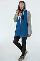 Демісезонна Куртка жіноча Geneva (50-60) світло-синій, фото 3