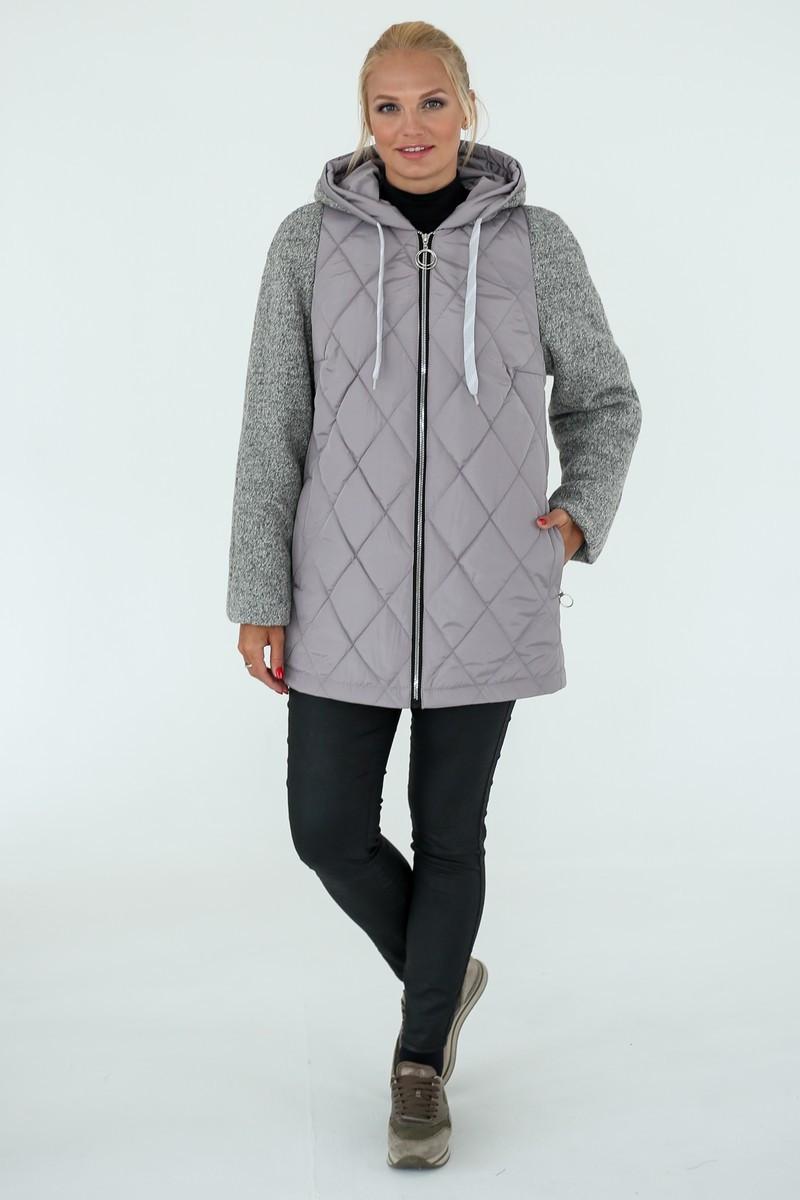 Демисезонная Куртка женская   Geneva (50-60) серый