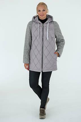 Демисезонная Куртка женская   Geneva (50-60) серый, фото 2