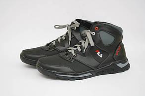 Мужские ботинки (Код: Б-25 черн-сер )