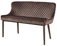 Диван М-20-1 велюр коричневый, мебель в стиле модерн, для дома, HoReCa, офиса