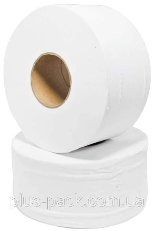 Бум/туалетная на гильзе Джамбо белая 120м 12шт/пак рецикл