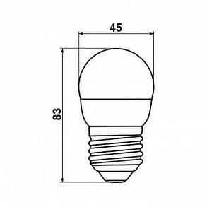 Светодиодная лампа Biom BT-584 G45 9W E27 4500К матовая, фото 2