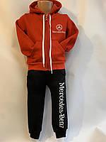 """Детский тёплый костюм для мальчика """"Mercedes-Benz""""от 2до 6лет, красного цвета"""