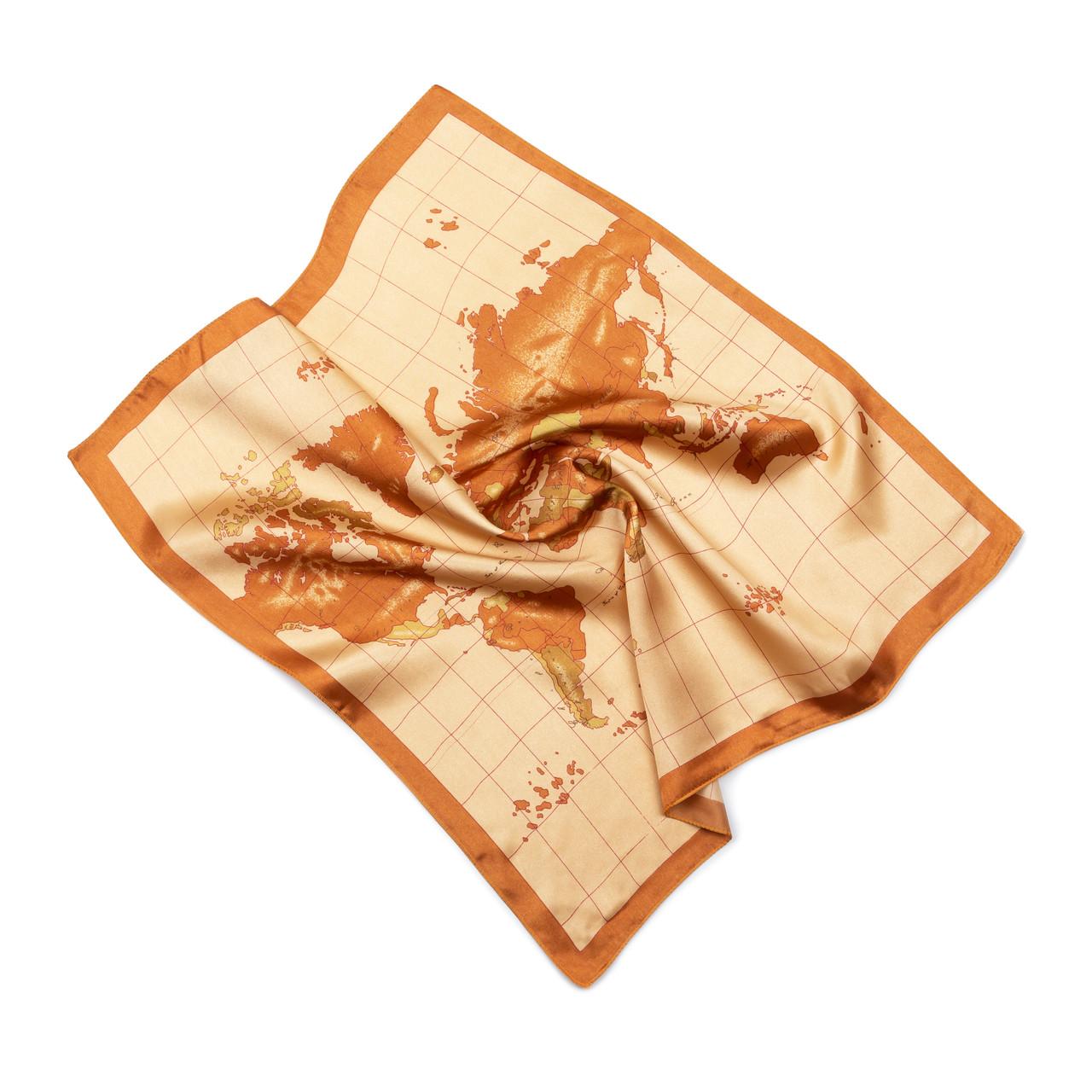 Платок шейный из шелка бежевый (Ш-509)