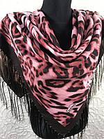 Теплый леопардовый платочек