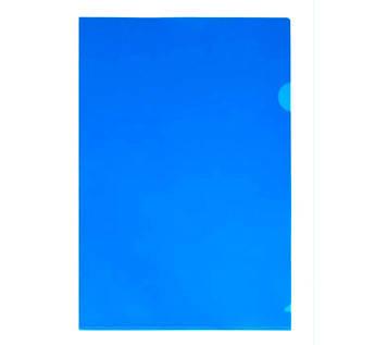 Папка-куточок А4 щільна, синя без логотипу N31153-02