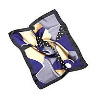 Платок шейный из шелка синий (Ш-509-1)