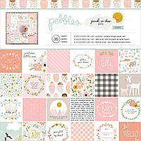 Набір паперу - Peek-A-Boo You - Girl - Pebbles - 30х30 Ціна за 1.3 набору (12 листків)