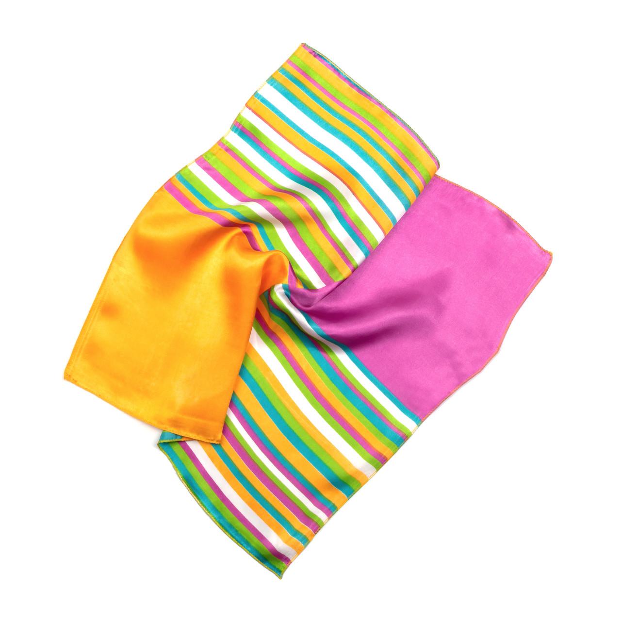 Платок шейный из шелка разноцветный (Ш-509-2)