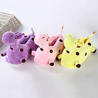 Детские плюшевые тапочки Жирафы