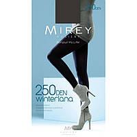 Теплые матовые колготки Mirey Винтерлана 250 ден L черные, фото 1