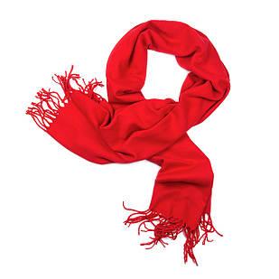 Палантин из шерсти красный