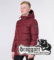 Braggart Kids | Детская зимняя куртка 65122 бордовая