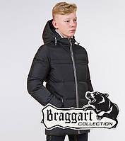 Braggart Kids | Зимняя детская куртка 65122 графит
