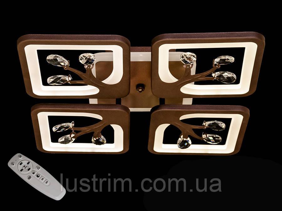 Светодиодная LED люстра с димером и подсветкой, 85W
