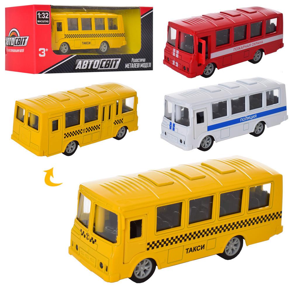 Автобус металлический инерционный AS-2195