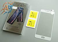 Защитное стекло 5D для Meizu M6 note белое