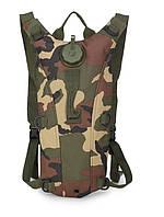 Гидратор с рюкзаком 3 лита Тактическая питьевая система KMS camelbak. вудленд.