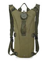 Гидратор с рюкзаком 3 лита. Тактическая питьевая система KMS camelbak зеленый.