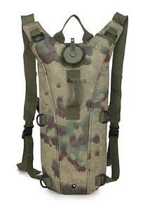 Гидратор с рюкзаком 3 лита. Тактическая питьевая система KMS camelbak болотный зеленый.