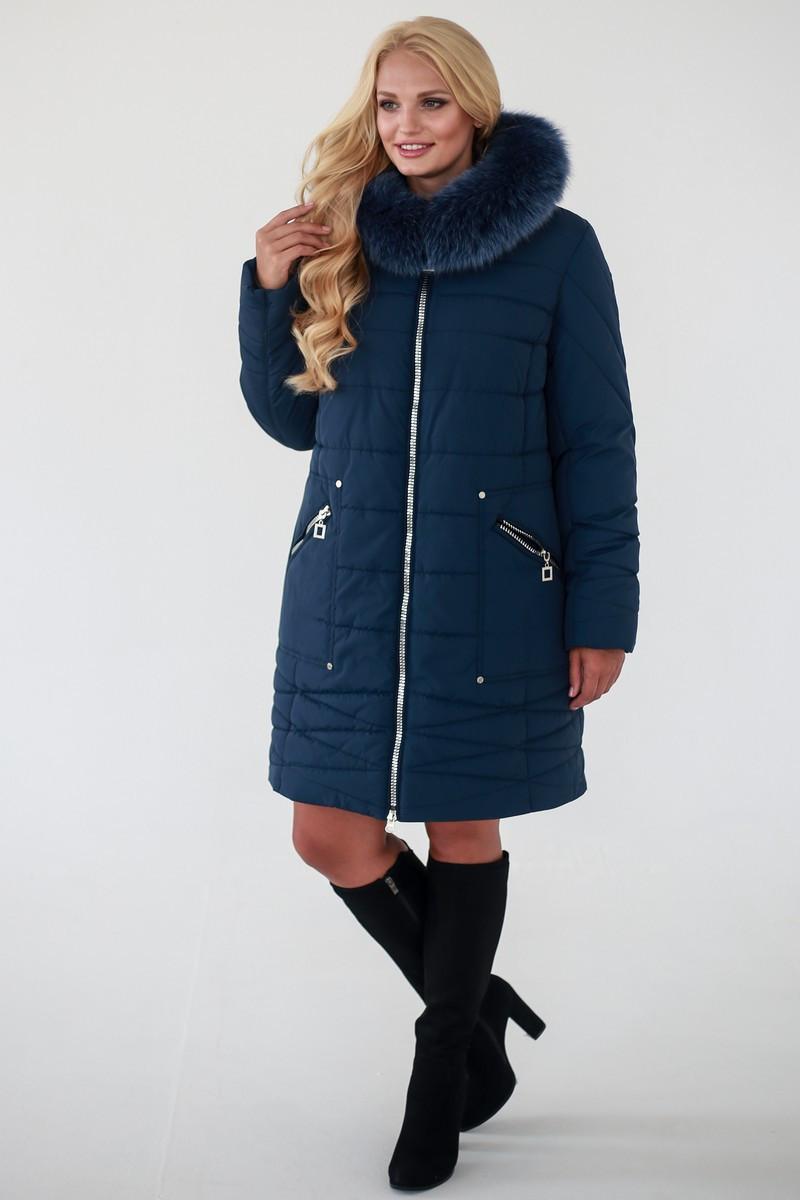 Зимняя Куртка женская   Laura (52-62) синий