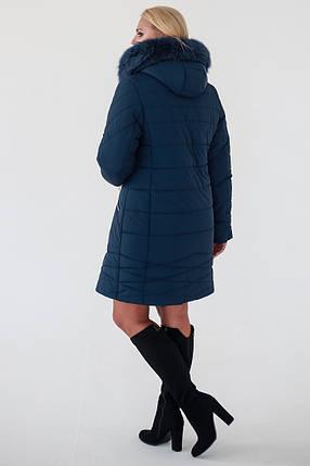 Зимняя Куртка женская   Laura (52-62) синий, фото 2