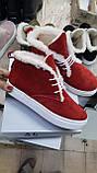 ❄️Женские зимние красные замшевые хайтопы WHYNOT, фото 6