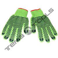 Рабочие перчатки синтетические зеленые